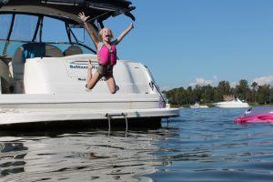 Прыжки с яхты
